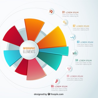 Colorful pie chart infographic