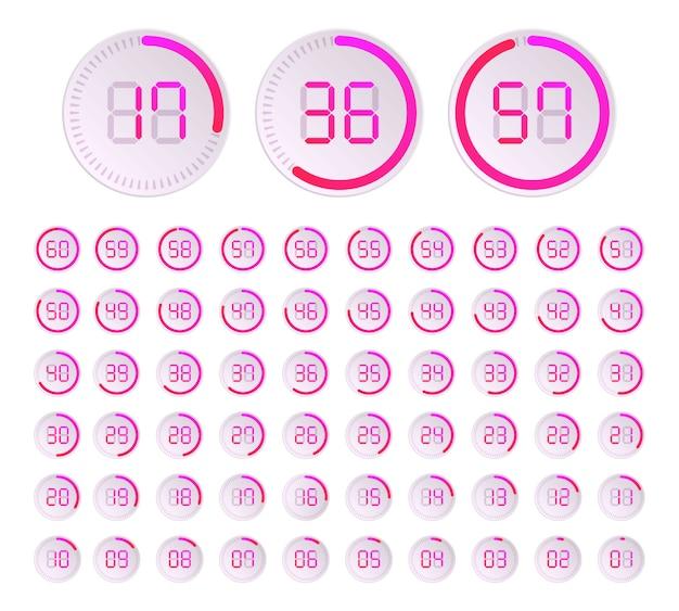 Красочные круговые диаграммы. круговой таймер. загрузка, буферизация.