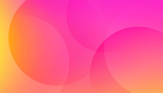 화려한 분홍색과 노란색 밝은 배경
