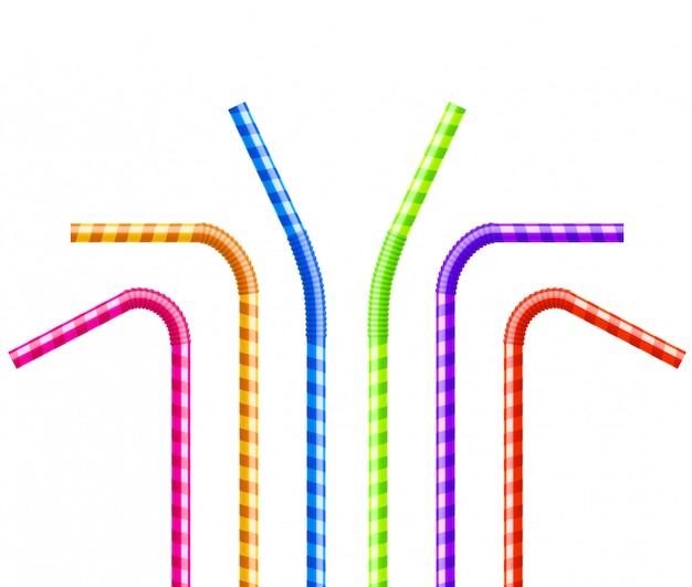 주스에 대한 다채로운 파이프 튜브 플라스틱 빨대