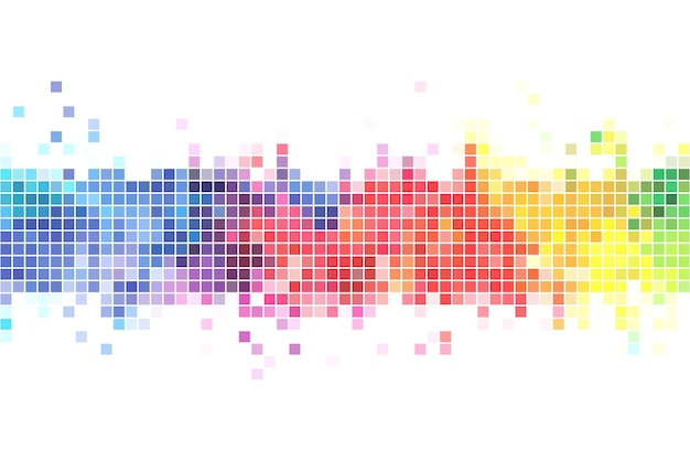 Colorful pixels background illustration