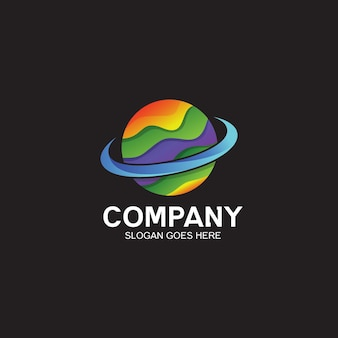Colorful planet logo design