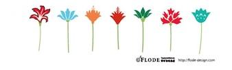 Colorful plant shapes