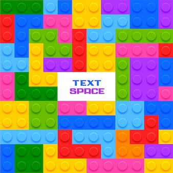 Colorful plastic blocks game