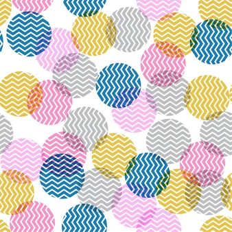원활한 내부 지그재그 패턴의 화려한 폴카 도트