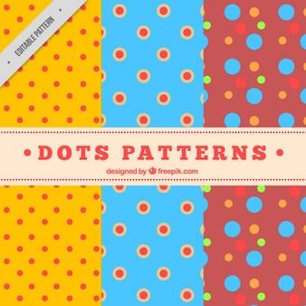 Colorful polka dot patterns