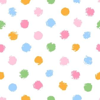 カラフルな水玉模様のシームレスパターン