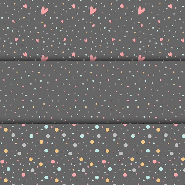 Colorful polka dots design vector