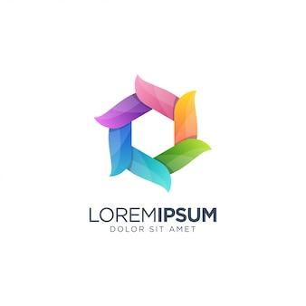 Colorful polygon logo