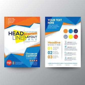 Colorful polygonal business brochure