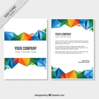 Colorful polygonal business brochure