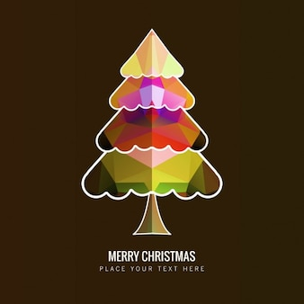 Colorful  polygonal christmas tree