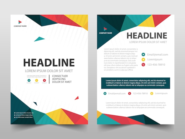 Colorful polygonal cover template