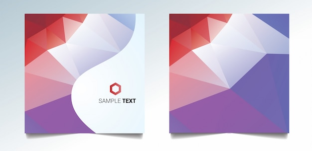 Colorful polygonal covers design. minimal geometric pattern