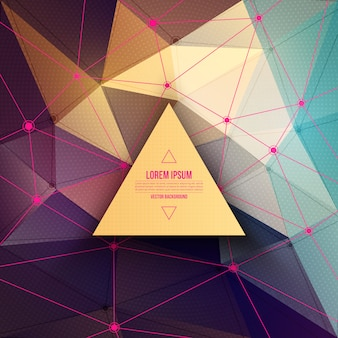 Colorful polygonal technology abstract background