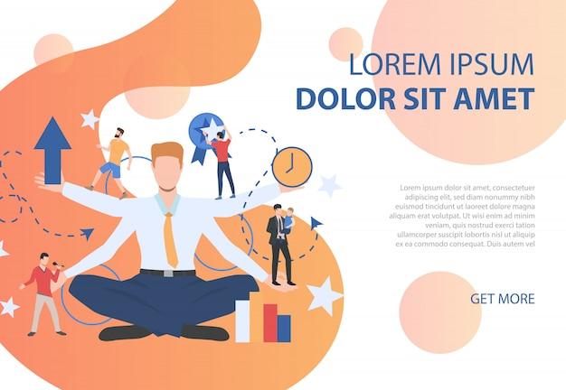 Красочный плакат, представляющий различные виды деятельности