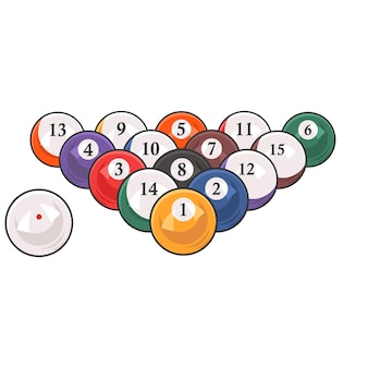 Colorful poster template for billiard tournament