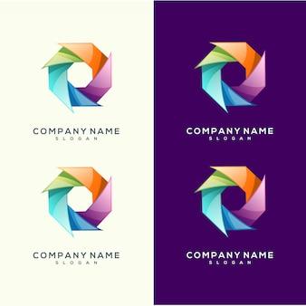 Colorful premium vector logo design circle