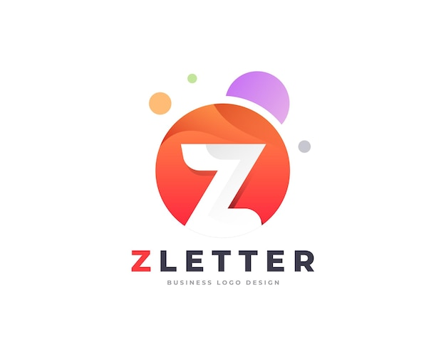 カラフルなプレミアムz文字ロゴデザインテンプレート