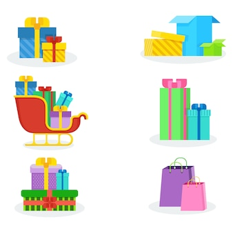 Colorful present boxes