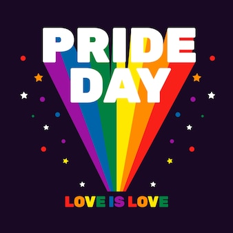 Colorful pride day celebration concept