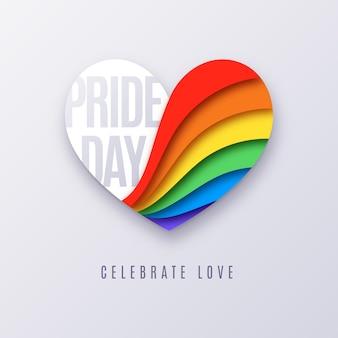 Красочная концепция дня гордости