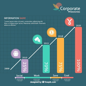 Colorful professional graphic template