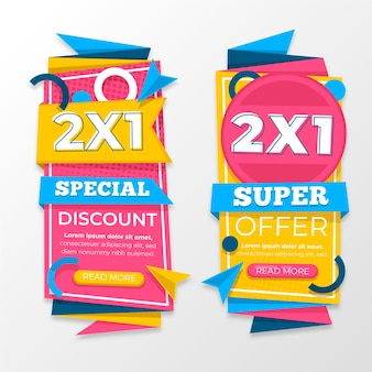 Colorful promotional banners set