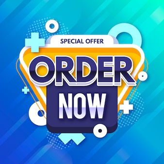 Colorful promotional order now banner template