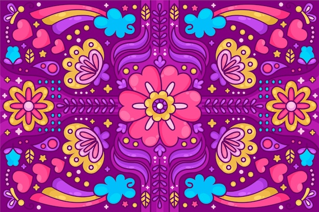 Colorful psychedelic groovy background