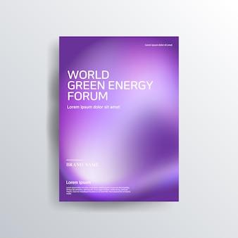 Colorful purple brochure