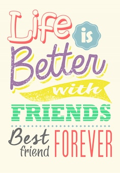 Colorful quote of friendship