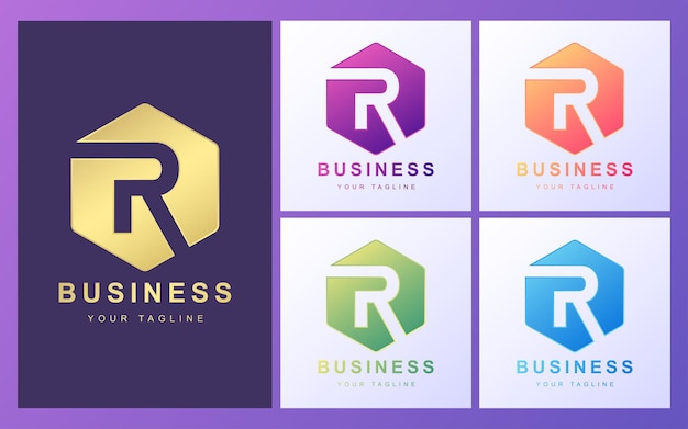 Colorful r letter logo with a modern concept