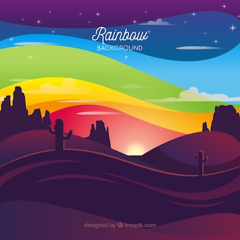 Красочный фон радуги