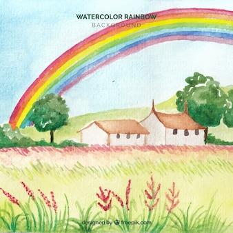 Colorful rainbow background