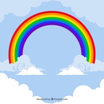 カラフルな虹カード