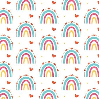 Красочная радуга узор сердца