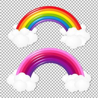 Набор красочная радуга, изолированные на прозрачном
