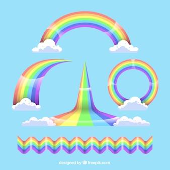 Colorful rainbow set