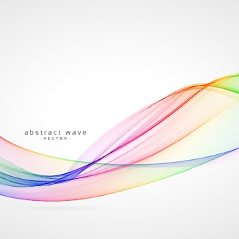 Colorful rainbow wave background