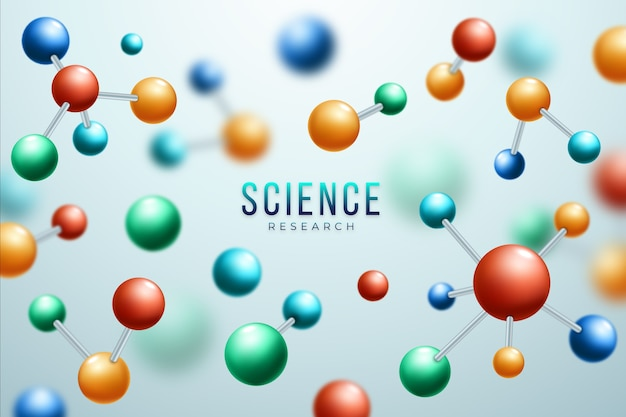 Colorful realisitc science background