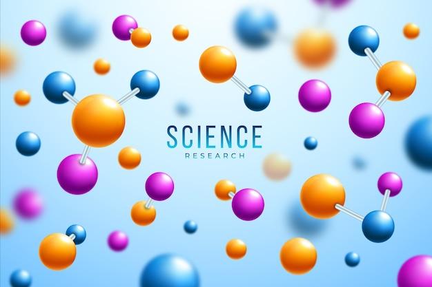 Sfondo colorato scienza realisitc