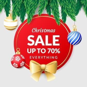 Colorful realistic christmas sale