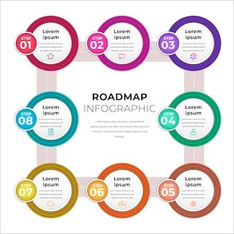 カラフルでリアルなプロセスのインフォグラフィック