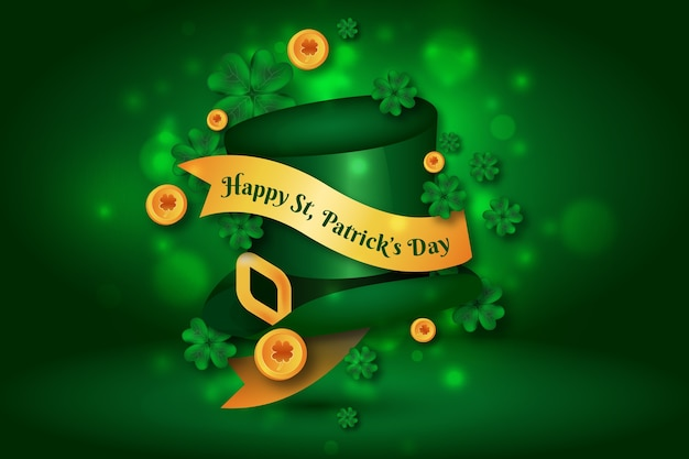 Colorful realistic saint patrick's day