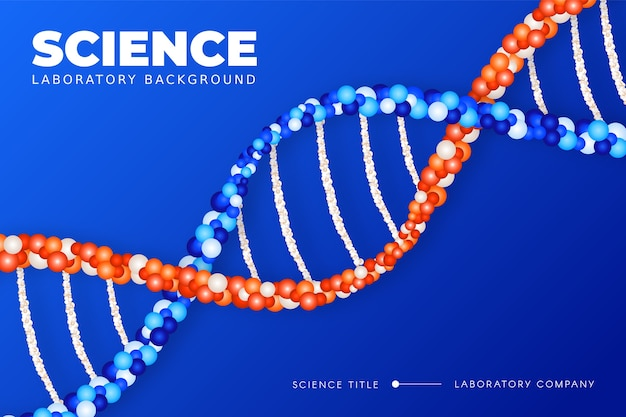 Colorful realistic science background with dna