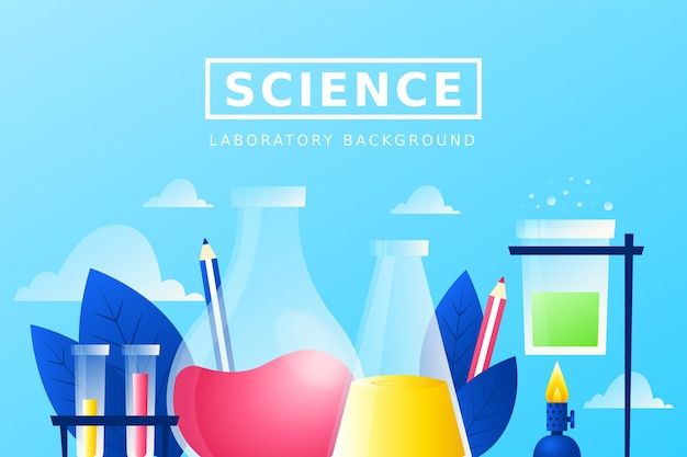 Colorful realistic science background with test tubes