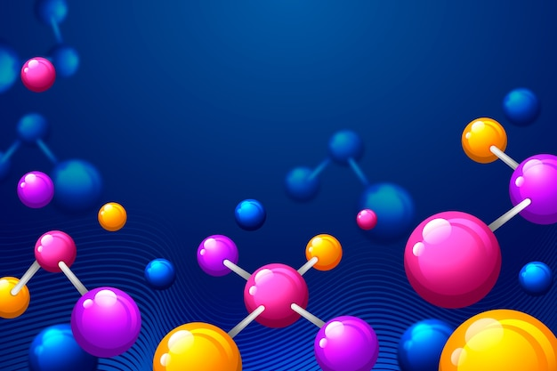 Colorful realistic science background