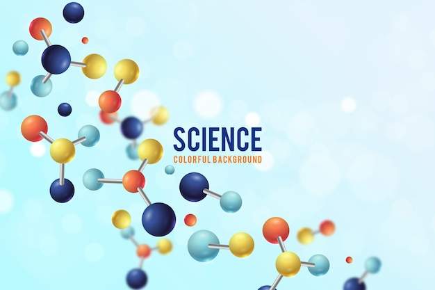 Colorful realistic science wallpaper