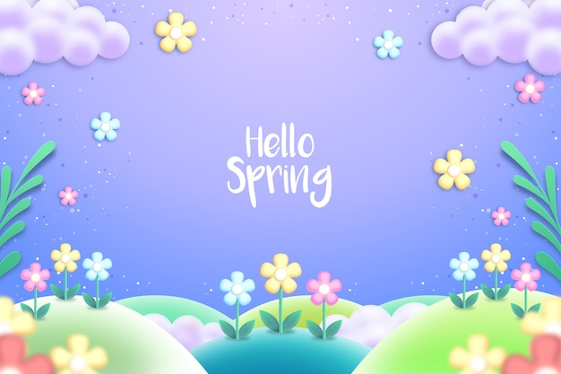 Colorful realistic spring background